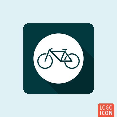 Icône de bicyclette isolée. vecteur