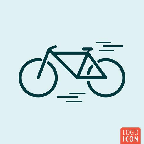 Icône de bicyclette isolée vecteur