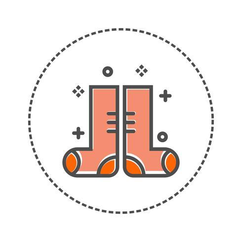 vecteur de chaussette icône isolé