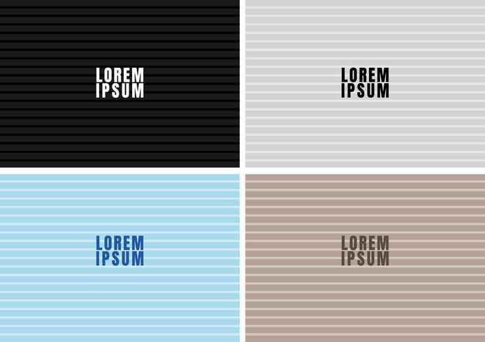 Ensemble de texture motif motif ligne audacieuse horizontale noir, blanc, bleu, brun et fond. Style de tableau de lettre. vecteur