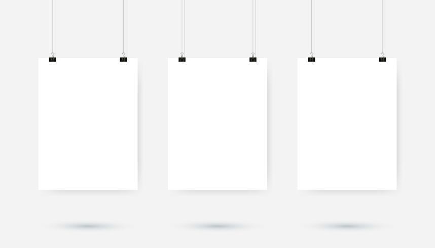 Pince-affiche vecteur