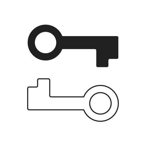 Icône deux clés vecteur