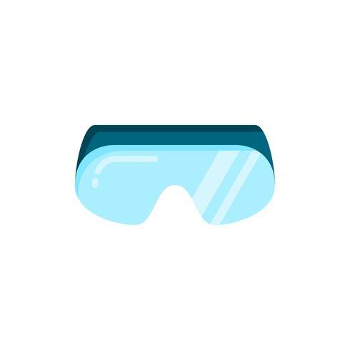 Icône plate de lunettes de sécurité vecteur