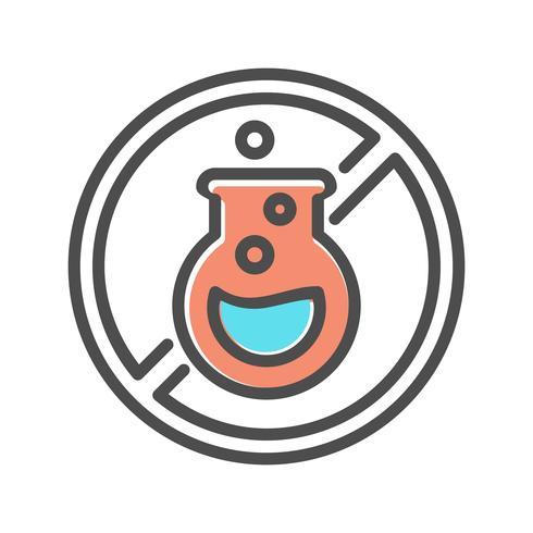 icône de blanchisserie sans produits chimiques vecteur
