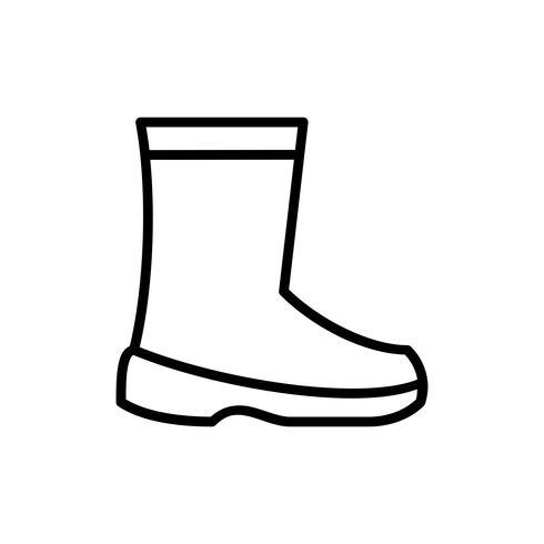 Icône de contour de chaussures de sécurité du travail vecteur