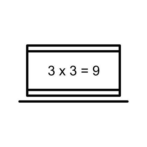 Calcul en ligne Icône belle ligne noire vecteur
