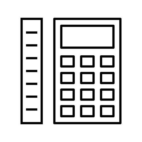Calcul des mesures Icône de belle ligne noire vecteur