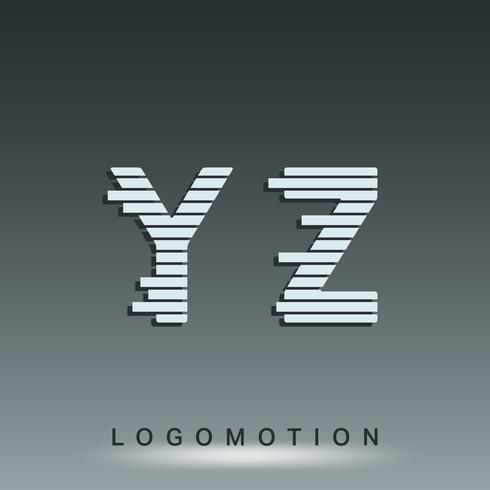 Modèle de police de logotype vecteur