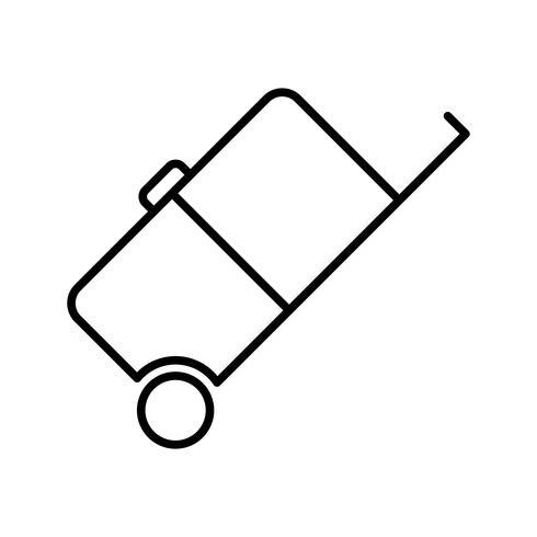 Icône de la belle ligne de bagages noir vecteur