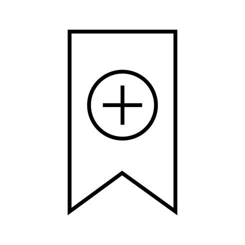 Ligne de signet icon noir vecteur