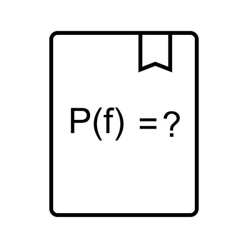 Fonction de résolution Icône de belle ligne noire vecteur