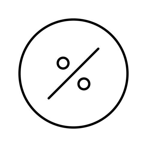 Symbole en pourcentage Icône de belle ligne noire vecteur