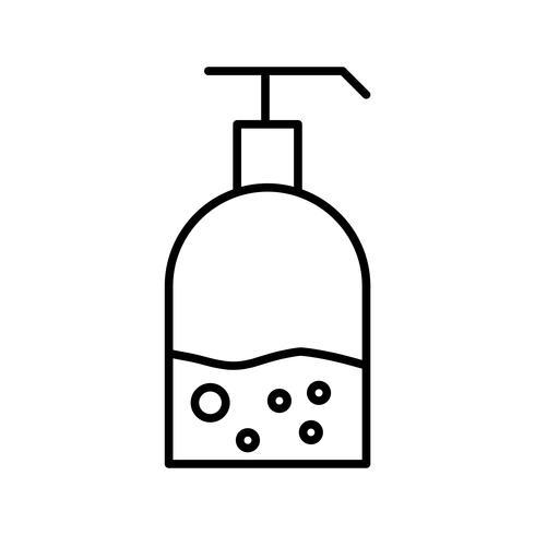 Icône noir belle ligne de lavage à la main vecteur