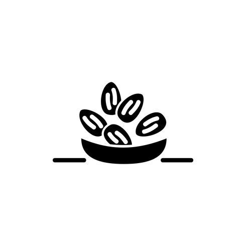 icône de glyphe de dates arabe. Kareem Ramadan vecteur