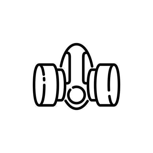 Icône de contour de masque de sécurité vecteur