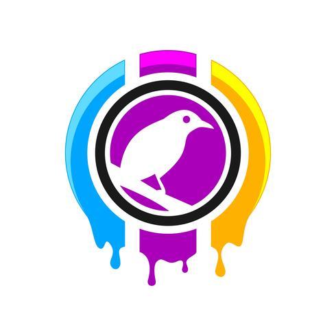 Création de logo d'impression numérique vecteur
