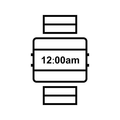 Montre-bracelet Line Black Icon vecteur