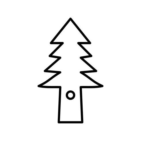 Icône d'arbre noir vecteur