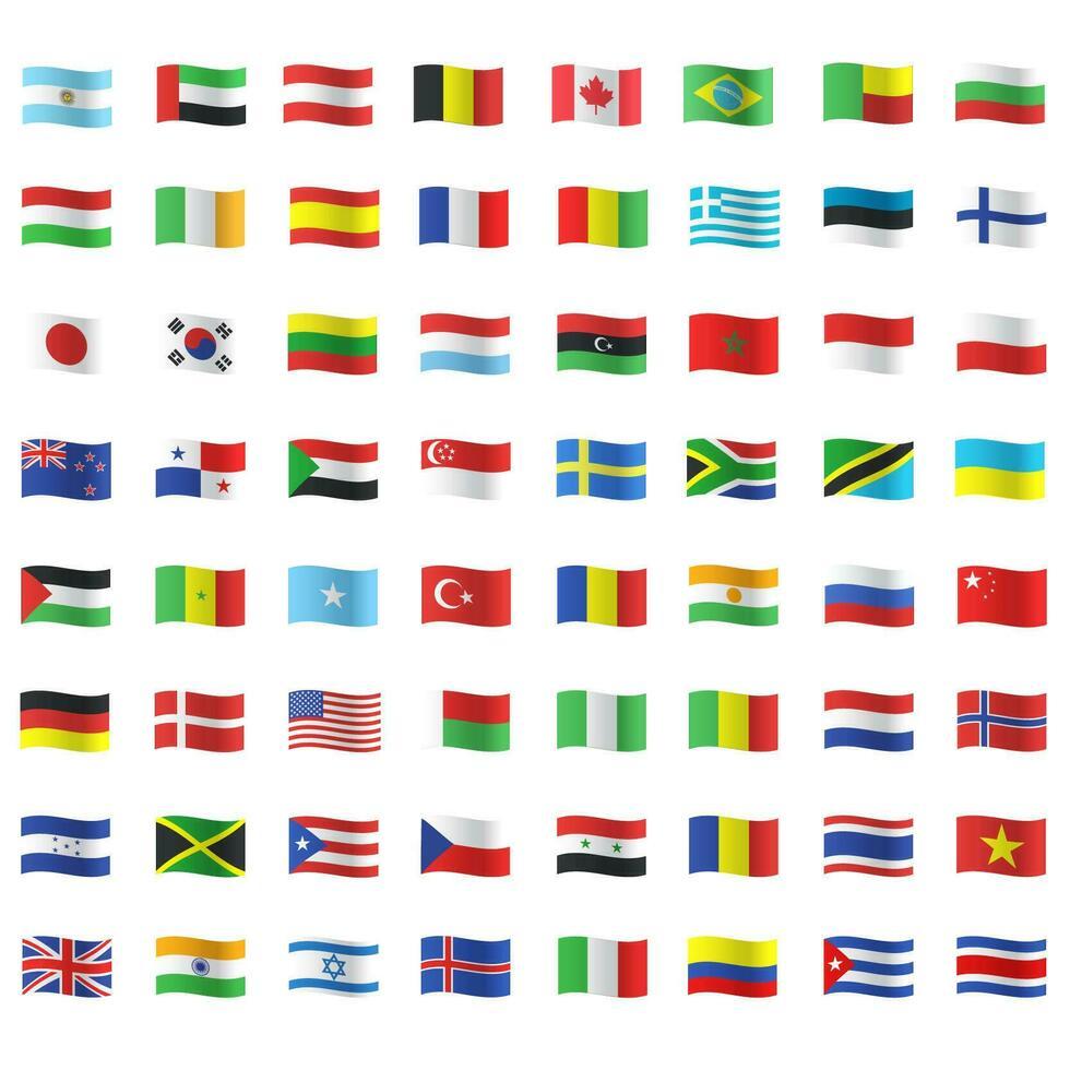 tous les drapeaux de pays vecteur