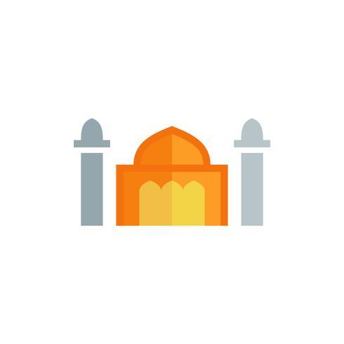 icône plate de la mosquée. Kareem Ramadan vecteur
