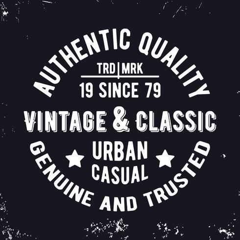 Timbre classique vintage vecteur