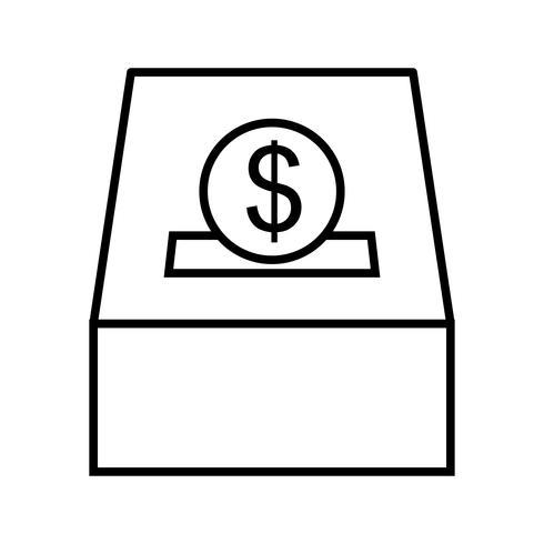 Icône de la belle charité ligne noire vecteur