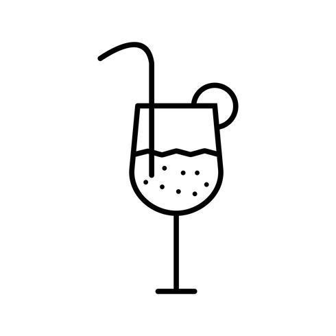 Icône de belle ligne de boisson noire vecteur