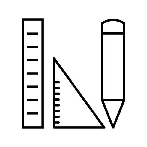 Étudier la géométrie Icône de belle ligne noire vecteur