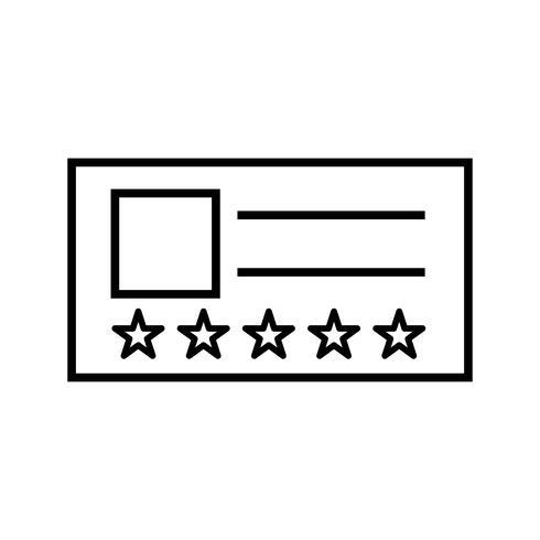 Icône Vip Card Line noir vecteur