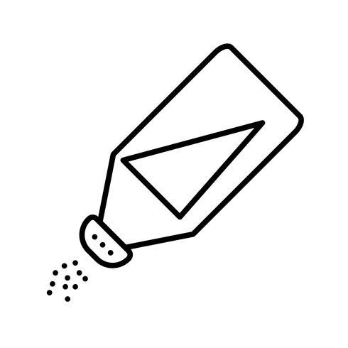 Icône de ligne noire belle bouteille de sel vecteur