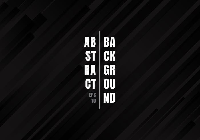 Lignes géométriques abstraites rayures diagonales noires et grises motif de fond style moderne. vecteur