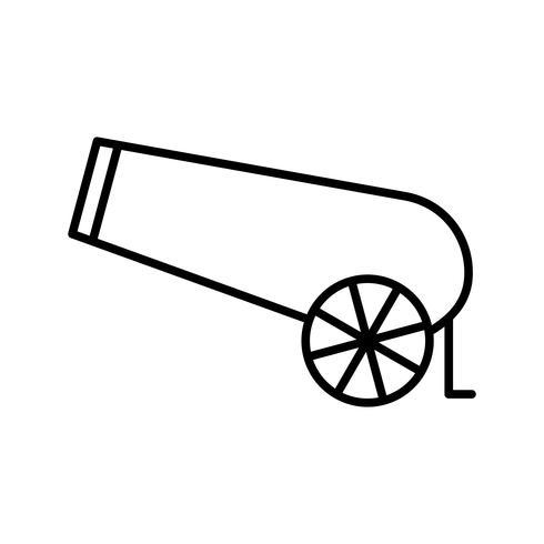 Icône Cannon Beautiful Line Black vecteur