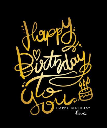 Joyeux anniversaire à toi design vecteur