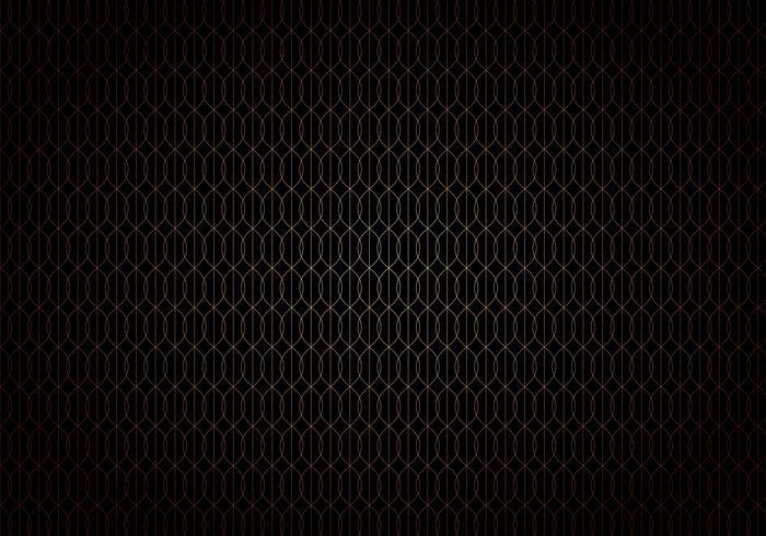 Motif de treillis sans soudure dégradé de lignes de vagues abstraites or sur style art déco de fond noir. vecteur