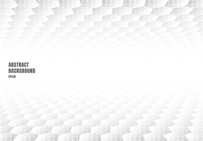 Abstrait hexagones blancs motif perspective et texture avec espace copie. Style de luxe vecteur