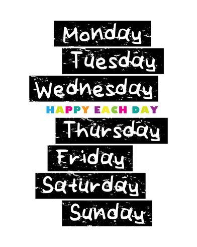 Jours de la semaine vecteur