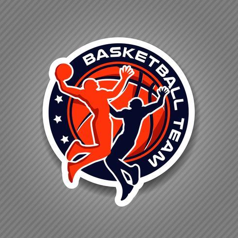 Logo de l'équipe de basketball vecteur