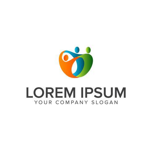 personnes utiles logo de soutien. logo du groupe de communication pour le travail d'équipe d vecteur