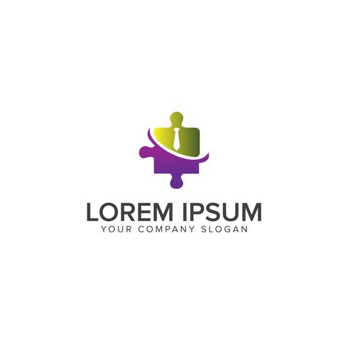 Logo du groupe de personnes. Illustration de graphisme vectoriel