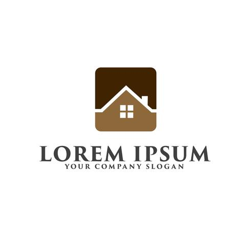 Logo immobilier. Concept de design de logo de construction architecturale vecteur