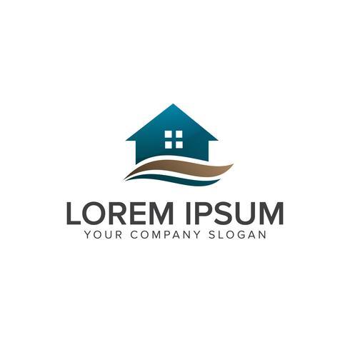 Logo immobilier. Modèle de concept de conception de construction architecturale logo vecteur