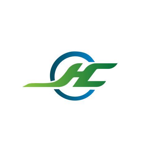 lettre J, H, C modèle de concept de design de logo vecteur