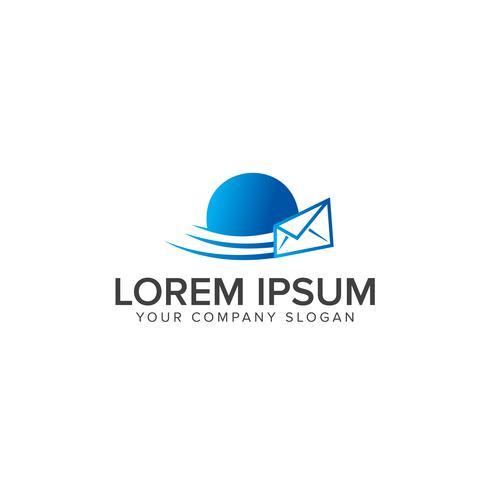 Modèle de concept Fast Mail icon logo design vecteur