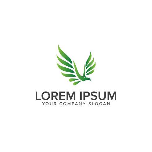 modèle de concept de design logo eagle vert oiseau vecteur