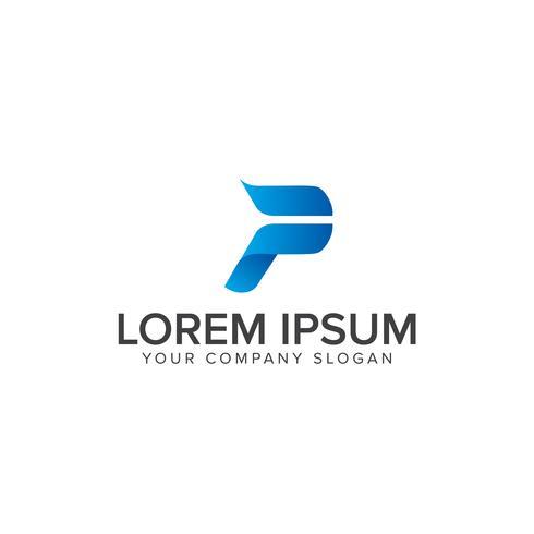 Éléments du modèle de conception lettre P logo icône vecteur
