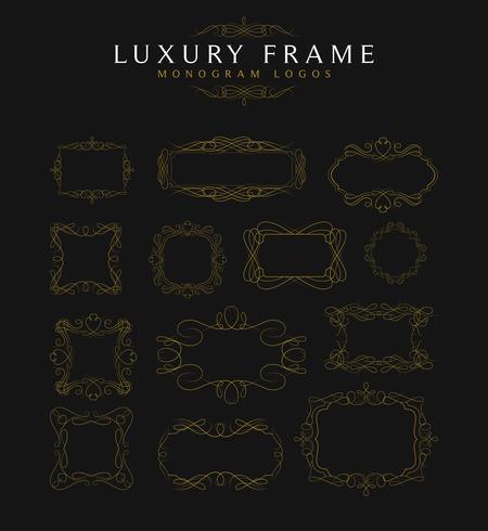 Modèles de calligraphie pour cadres de luxe vecteur