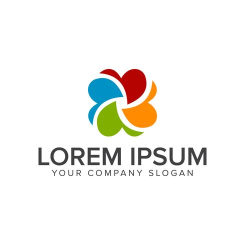 Modèle de concept de conception de logo capture multimédia vecteur