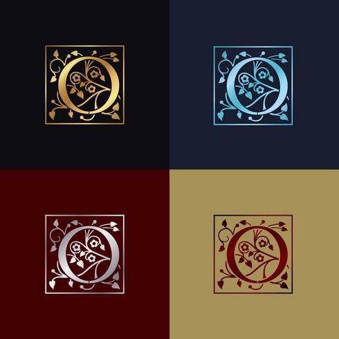 Lettre O Logo Décoratif vecteur
