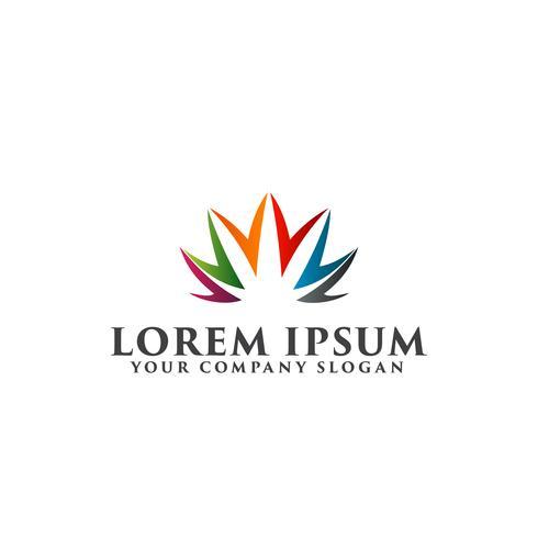 concept de design de logo de soins aux personnes vecteur
