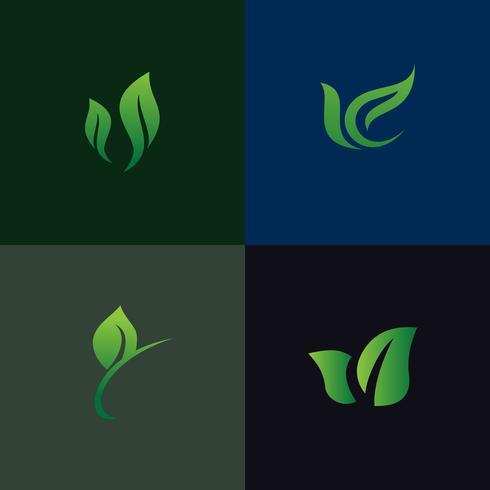 collection de jeux de logo nature nature. Environnement et aménagement paysager g vecteur